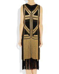 Gucci | Black Silk Chain Dress | Lyst