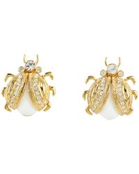 kate spade new york - Metallic Caledonia Bug Stud Earrings - Lyst