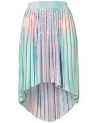 TOPSHOP Multicolor Earth Printed Dip Back Skirt