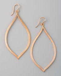 Dogeared Metallic Always Beautiful Eye Earrings Rose Gold