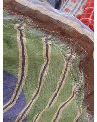 Faliero Sarti Multicolor Patchwork Scarf