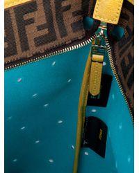 Fendi Yellow Roll Bag Leather Shopper