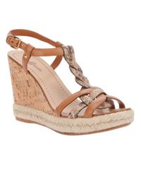 Car Shoe Brown Wedge Sandal