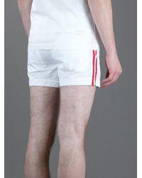 DSquared² - White Sport Shorts for Men - Lyst
