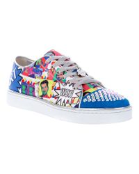 Gianmarco Lorenzi Multicolor Pop Art Sneaker