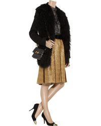 Lanvin Metallic Tweed Pleated Skirt