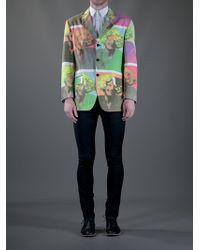 Moschino Green Pop Art Blazer for men