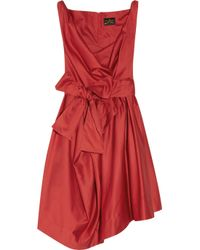 Vivienne Westwood Anglomania | Red Friday Cotton Satin Dress | Lyst