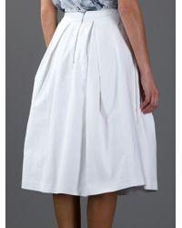 Acne Studios Optic White Havilland Denim Full Skirt