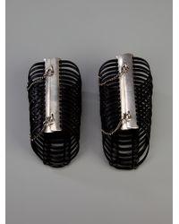 Ann Demeulemeester   Black Cuff Bracelet   Lyst