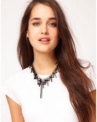 ASOS - Black Multi Cross Statement Necklace - Lyst