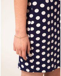 ASOS - Metallic Italic Initial J Charm Bracelet - Lyst