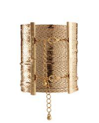 ASOS - Metallic Premium Multi Strand Snake Chain Bracelet - Lyst