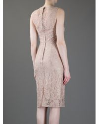 Dolce & Gabbana   Beige Lace Dress   Lyst