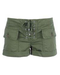 Dondup Green Combat Shorts