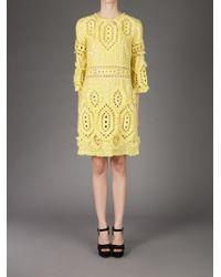Emilio Pucci Yellow Embellished Dress