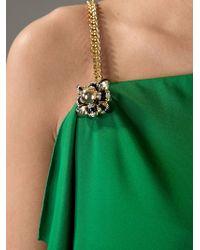Gucci Green Asymmetric Dress