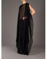 Haider Ackermann Black Sheer Waistcoat
