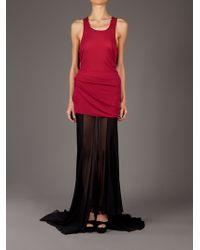 Haider Ackermann Black Very Long Skirt
