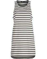 Markus Lupfer Blue Stripe Tank Dress