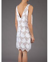 Marni White Embroidered Sleeveless Dress