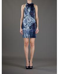 McQ Blue Drape Dress
