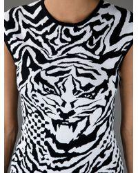 McQ Multicolor Intarsia Tiger Dress
