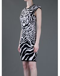 McQ Multicolor Zebra Print Dress