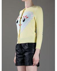 Meadham Kirchhoff Yellow Heart Cardigan