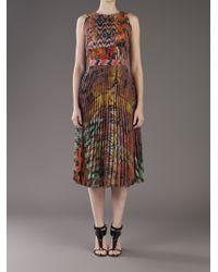 Michael Angel Brown Sunray Pleat Skirt