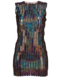 Paco Rabanne - Multicolor Chainmail Dress - Lyst