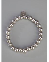 Philippe Audibert - Metallic Silver Ball Bracelet - Lyst