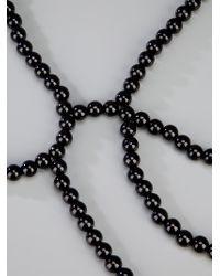 Saskia Diez | Black Lace Cape Necklace | Lyst
