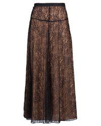Shakuhachi Black Lace Maxi Skirt