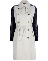 Sophie Hulme Natural Leather Sleeve Trench Coat