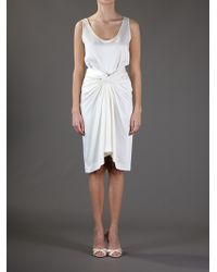 The Row White Knot Front Skirt