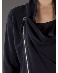 Unconditional Black Moto Drape Jacket