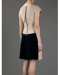 Vionnet Natural Short Sleeve Dress