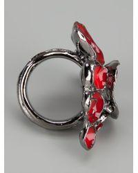 Saint Laurent - Red Poppy Ring - Lyst