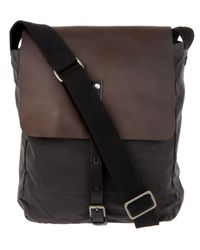 Ally Capellino | Gray Waxed Cotton Ivan Messenger Bag for Men | Lyst