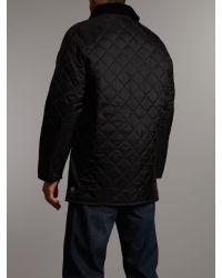 Barbour Black Liddesdale Coloured Lined Jacket for men