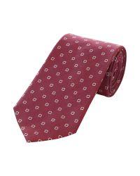 Bäumler Red Square Dot Tie for men