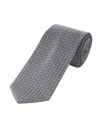 Bäumler Gray Mini Paisley Tie for men