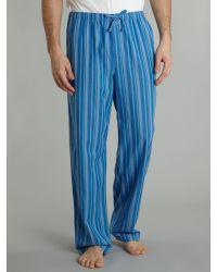Calvin Klein Blue Stripe Loungewear Pant for men