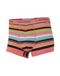 Calvin Klein Pink Stripe Underwear Trunks for men