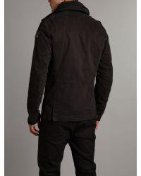 DIESEL Black Four Pocket Coat for men