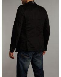 DIESEL Black Washed Blazer for men