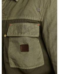 DIESEL Gray Contrast Cotton Jacket for men