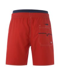 DIESEL Red Double Waistband Medium Length Swim Short for men