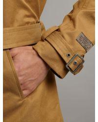 DIESEL Natural Trench Jacket for men